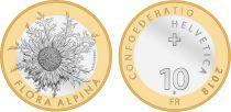 Suisse 10 Francs Chardon argenté - 2018 Bimétal