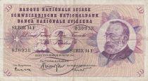 Suisse 10 Francs Gottfried Keller, Oeillets - 1963 Série 34 F