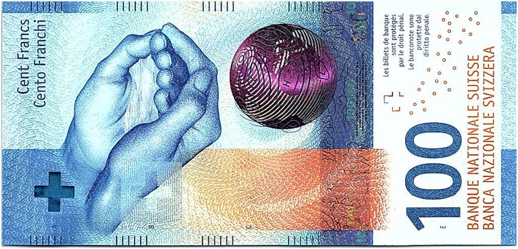Suisse 100 Francs Mains - 2019 Hybride - Neuf