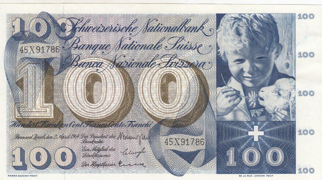 Suisse 1000 Francs 1964 - Enfant avec agneau, St Martin