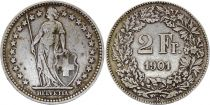 Suisse 2 Francs  Helvetie - 1901 B