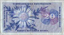 Suisse 20 Francs  Guillaume Henri Dufour - Edelweiss - 21/01/1965