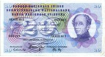 Suisse 20 Francs 1972 - Guillaume-Henri Dufour, chardon argenté