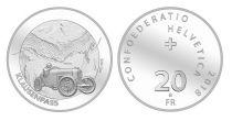 Suisse 20 Francs Col du Klausen - 2018 Argent