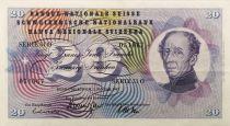 Suisse 20 Francs Guillaume Henri Dufour - Edelweiss - 01/01/1967 - TTB+