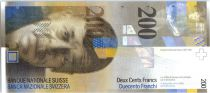 Suisse 200 Francs Charles-Ferdinand Ramuz - 2013 format vertical