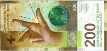 Suisse 200 Francs Main - Planete - 2016 (2018) format vertical