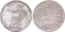 Suisse 5 Francs , Femme Assise  - 1874 B