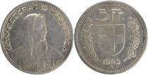 Suisse 5 Francs Guillame Tell,  Armoiries - 1923