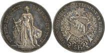 Suisse 5 Francs Helvetia,  Armoiries - 1885
