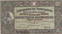 Suisse 5 Francs William Tell - 16-11-1944 Série 26 X - TTB - P.11k