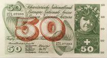 Suisse 50 Francs - Récolte des pommes - 15/01/1969 - SUP+
