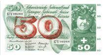 Suisse 50 Francs 1964 - Jeune fille, récolte de fruits