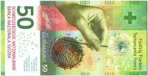 Suisse 50 Francs Saut en parachute, montagne - 2015 Hybride