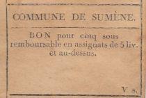 Sumène Bon de Commune - 1791