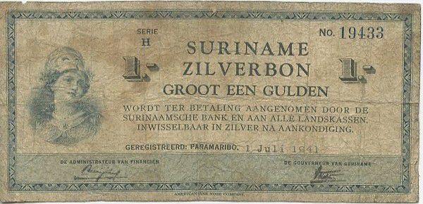 Suriname 1 Gulden Helmeted woman