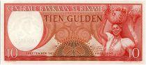 Suriname 10 Gulden, Femme et Panier de fruits - 1963 - Neuf - P.121