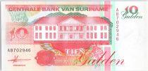 Suriname 10 Gulden, Récolte des bananes - 1991 - Neuf - P.137 a