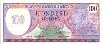 Suriname 100 Gulden,  Révolution du 25 février 1980 - 1985 - Neuf - P.128 b