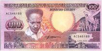 Suriname 100 Gulden, Anton Dekom - Toucan - 1986 - UNC - P.133