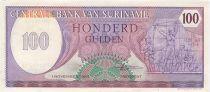 Suriname 100 Gulden Indépendance 25 février 1980