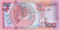 Suriname 100 Gulden Oiseaux Long-tailed Hermit - 2000