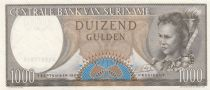 Suriname 1000 Gulden Woman - Arms - 1963