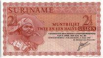 Suriname 2 1/2 Gulden, Jeune femme et chapeau  - 1967 - Neuf - P.117