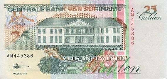 Suriname 25 Gulden Anthony Neste nageur