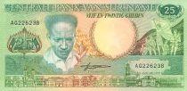 Suriname 25 Gulden Anton Dekom - Toucan- 1988