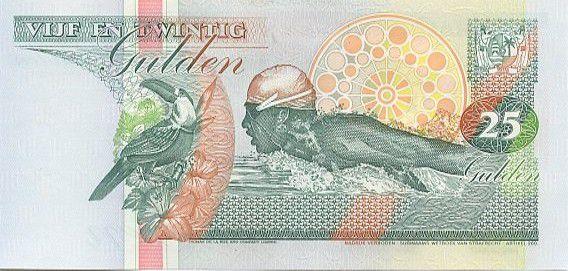 Suriname 25 Gulden Bank, Swimmer (Anthony Neste)