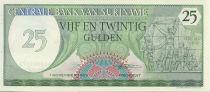 Suriname 25 Gulden Indépendance 25 février 1980