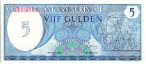 Suriname 5 Gulden,  Révolution du 25 février 1980 - 1985 - Neuf - P.125