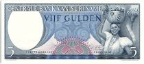 Suriname 5 Gulden, Femme et Panier de fruits - 1963 - Neuf - P.120
