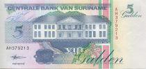 Suriname 5 Gulden Activité forestière - 1998