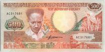 Suriname 500 Gulden, Anton Dekom - Toucan - 1988 - UNC - P.135 b