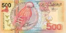 Suriname 500 Gulden Bird: Guianan Cock-of-the-rock