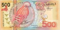 Suriname 500 Gulden Oiseaux: rouge-brun