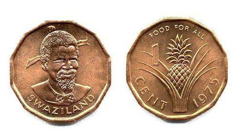Swaziland 1 Cent Sobhuza II