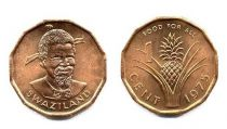 Swaziland 1 Cent Sobhuza II - 1975