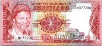 Swaziland 1 Lilangeni Roi Sobuzha II - Danseuses - 1974
