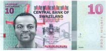 Swaziland 10 Emalangeni 2015 - King Mswati III, dancers - Vision 2022