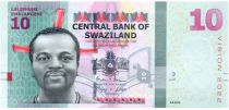 Swaziland 10 Emalangeni 2015 - Roi Mswati III, danseurs - Vision 2022