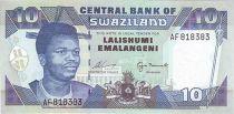 Swaziland 10 Emalangeni Kg Mswati III - Plant
