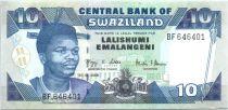 Swaziland 10 Emalangeni Roi Mswati III - Usine - 2006
