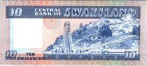 Swaziland 10 Emalangeni Roi Sobuzha II - Mine Asbestos - 1985