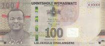 Swaziland 100 Emalangeni Roi Mswati III - Animals, Hybrid - 2017