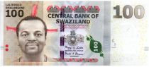 Swaziland 100 Emalangeni Roi Mswati III - Lion, rhino, elephant, bird - 2010