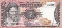 Swaziland 2 Emalangeni ND1974 - King Sobhuza II, Elephant, Sugar mill