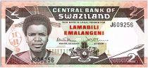 Swaziland 2 Emalangeni Roi Mswati III - Animauix - 1987